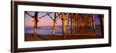 Pier over the Ocean, Folly Beach Fishing Pier, Folly Beach, Folly Island, Charleston County--Framed Photographic Print