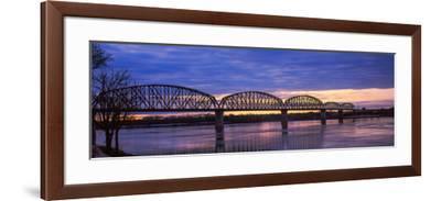 Bridge across a River, Big Four Bridge, Louisville, Kentucky, USA--Framed Photographic Print
