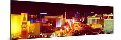 City Lit Up at Night, Las Vegas, Clark County, Nevada, USA--Mounted Photographic Print