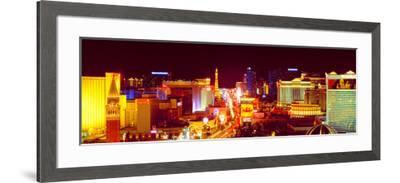 City Lit Up at Night, Las Vegas, Clark County, Nevada, USA--Framed Photographic Print