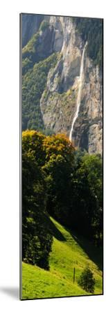 Waterfall, Lauterbrunnen Valley, Wengen, Lauterbrunnen, Interlaken-Oberhasli, Bernese Oberland--Mounted Photographic Print