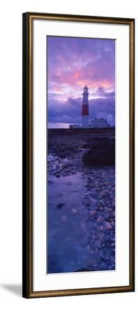 Lighthouse on the Coast, Portland Bill Lighthouse, Portland Bill, Dorset, England--Framed Photographic Print