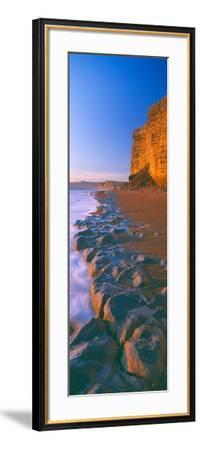 Cliff on the Beach, Burton Bradstock, Dorset, England--Framed Photographic Print