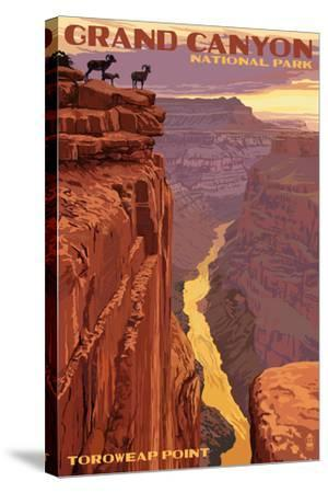 Grand Canyon National Park - Toroweap Point-Lantern Press-Stretched Canvas Print