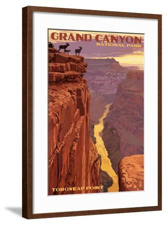 Grand Canyon National Park - Toroweap Point-Lantern Press-Framed Art Print