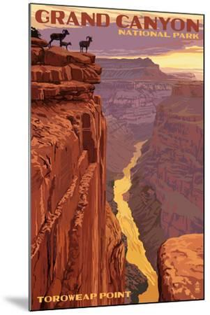 Grand Canyon National Park - Toroweap Point-Lantern Press-Mounted Art Print