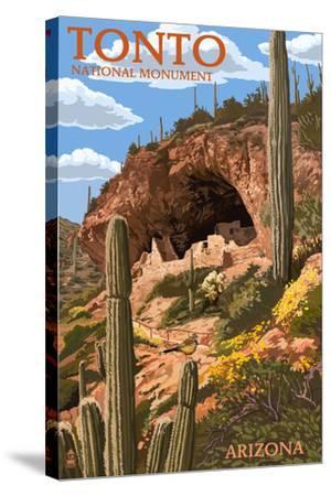 Tonto National Monument, Arizona-Lantern Press-Stretched Canvas Print