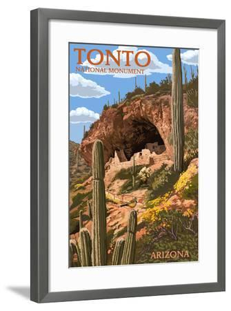 Tonto National Monument, Arizona-Lantern Press-Framed Art Print