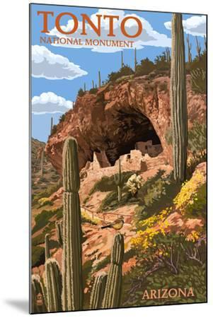 Tonto National Monument, Arizona-Lantern Press-Mounted Art Print
