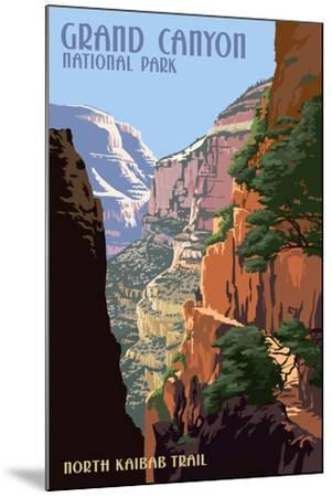North Kaibab Trail - Grand Canyon National Park-Lantern Press-Mounted Art Print