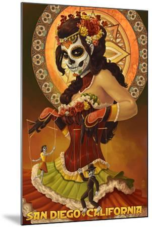 Day of the Dead Marionettes - San Diego, California-Lantern Press-Mounted Art Print