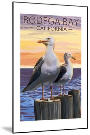 Bodega Bay, California - Seagull-Lantern Press-Mounted Art Print