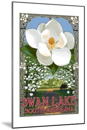 Swan Lake, South Carolina - Magnolia-Lantern Press-Mounted Art Print