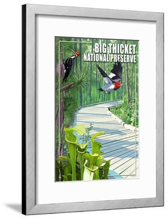 Big Thicket National Preserve, Texas-Lantern Press-Framed Art Print