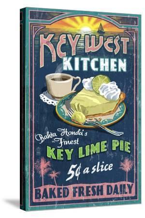 Bahia Honda, Florida Keys - Key Lime Pie Sign-Lantern Press-Stretched Canvas Print