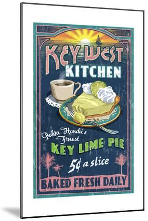 Bahia Honda, Florida Keys - Key Lime Pie Sign-Lantern Press-Mounted Art Print
