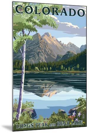 Colorado - Longs Peak and Bear Lake Summer-Lantern Press-Mounted Art Print