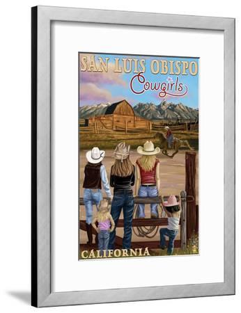San Luis Obispo, California - Cowgirls-Lantern Press-Framed Art Print