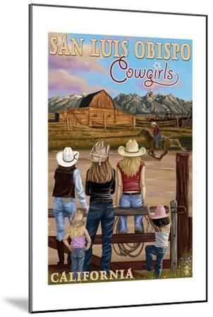 San Luis Obispo, California - Cowgirls-Lantern Press-Mounted Art Print