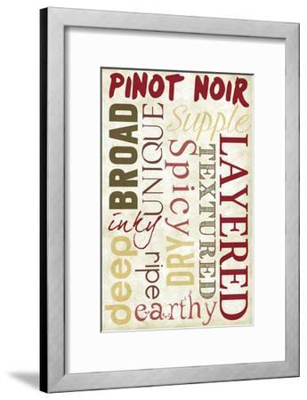 Pinot Noir Typography-Lantern Press-Framed Art Print
