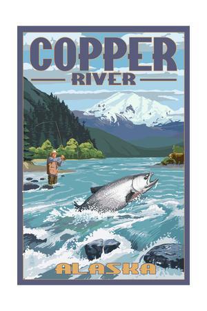 Copper River, Alaska - Fisherman-Lantern Press-Framed Art Print