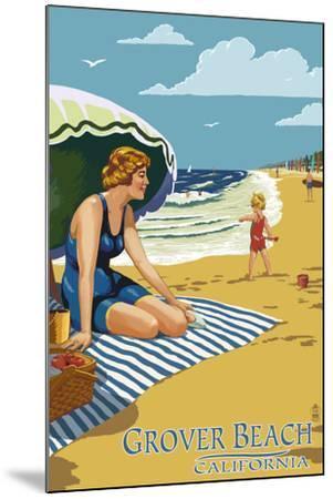 Grover Beach, California Beach Scene-Lantern Press-Mounted Art Print