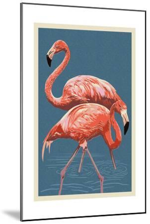 Flamingo-Lantern Press-Mounted Art Print