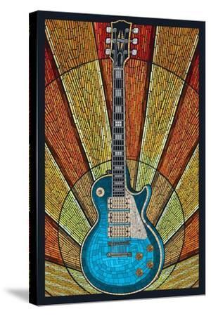 Guitar - Mosaic-Lantern Press-Stretched Canvas Print