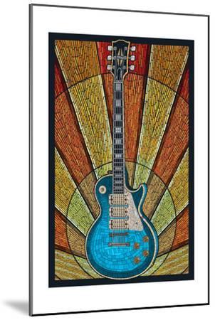Guitar - Mosaic-Lantern Press-Mounted Art Print