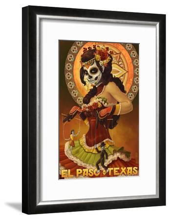 El Paso, Texas - Day of the Dead Marionettes-Lantern Press-Framed Art Print