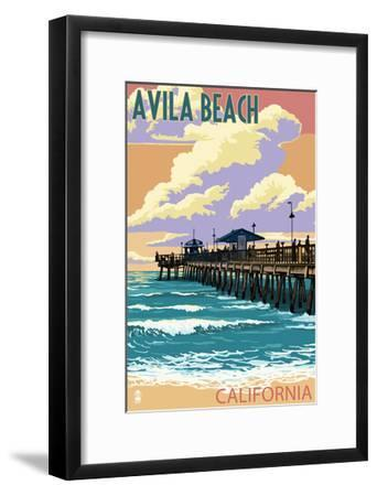 Avila Beach, California - Pier Sunset-Lantern Press-Framed Art Print