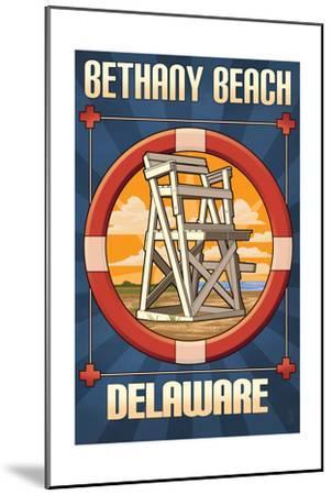 Bethany Beach, Delaware - Lifeguard Chair-Lantern Press-Mounted Art Print