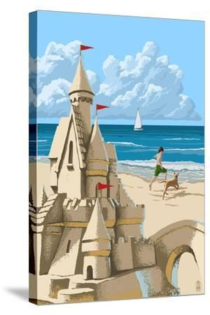 Sandcastle-Lantern Press-Stretched Canvas Print