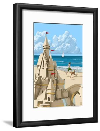 Sandcastle-Lantern Press-Framed Art Print