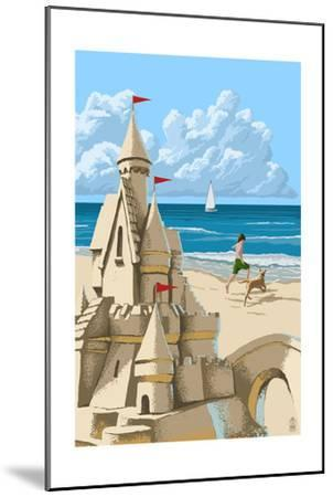 Sandcastle-Lantern Press-Mounted Art Print