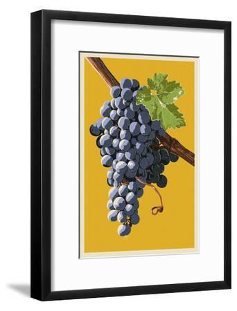 Wine Grapes-Lantern Press-Framed Art Print