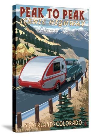 Colorado - Fall Retro Camper-Lantern Press-Stretched Canvas Print