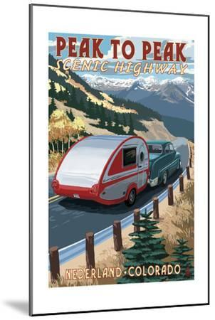 Colorado - Fall Retro Camper-Lantern Press-Mounted Art Print