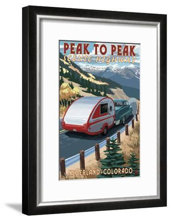 Colorado - Fall Retro Camper-Lantern Press-Framed Art Print