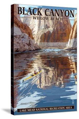 Lake Mead - National Recreation Area - Black Canyon Kayaker-Lantern Press-Stretched Canvas Print