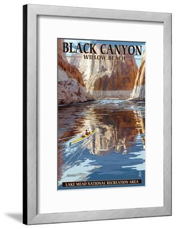 Lake Mead - National Recreation Area - Black Canyon Kayaker-Lantern Press-Framed Art Print