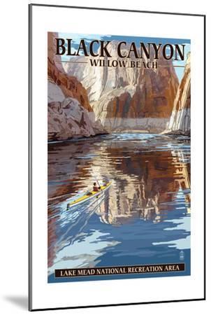 Lake Mead - National Recreation Area - Black Canyon Kayaker-Lantern Press-Mounted Art Print