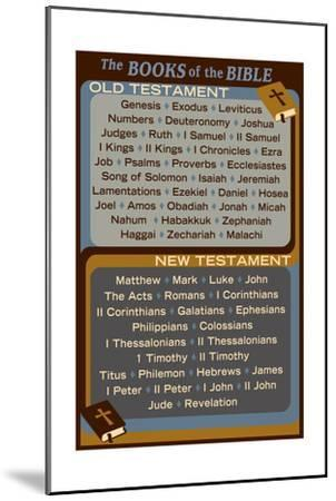 The Books of the Bible - Inspirational-Lantern Press-Mounted Art Print