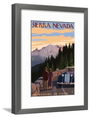 Sierra Nevada - the Mountains are Calling-Lantern Press-Framed Art Print