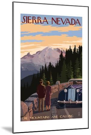 Sierra Nevada - the Mountains are Calling-Lantern Press-Mounted Art Print