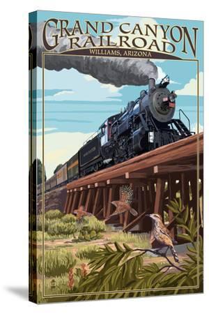 Grand Canyon Railway, Arizona - Trestle-Lantern Press-Stretched Canvas Print