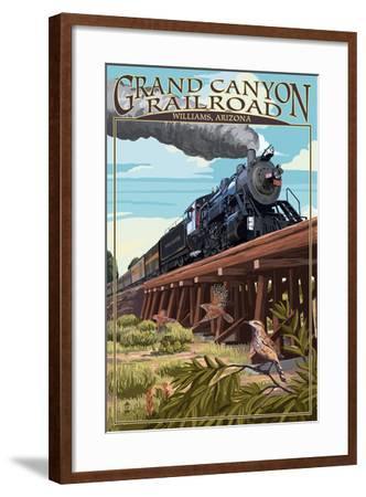 Grand Canyon Railway, Arizona - Trestle-Lantern Press-Framed Art Print