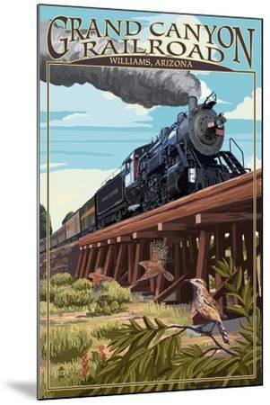 Grand Canyon Railway, Arizona - Trestle-Lantern Press-Mounted Art Print