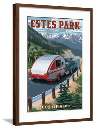 Estes Park, Colorado - Retro Camper-Lantern Press-Framed Art Print
