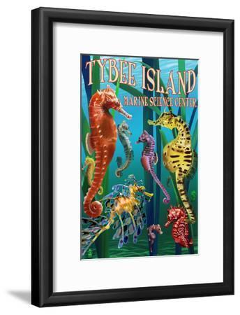Tybee Island Marine Center - Tybee Island,Georgia - Sea Horses-Lantern Press-Framed Art Print
